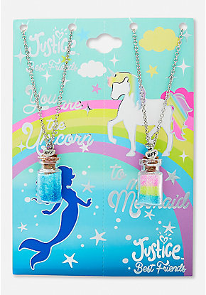 BFF Mermaid & Unicorn Potion Pendant Necklace - 2 Pack