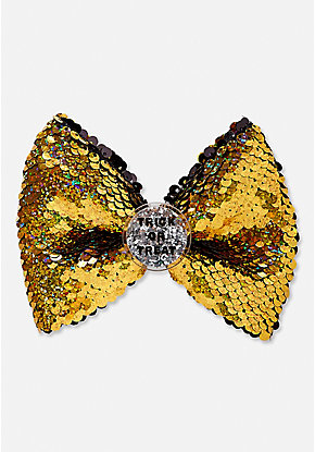 Shaky Trick or Treat Flip Sequin Hair Bow