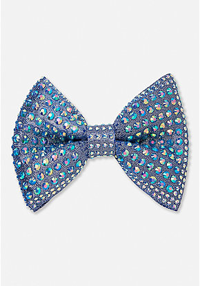 Holographic Stud Hair Bow