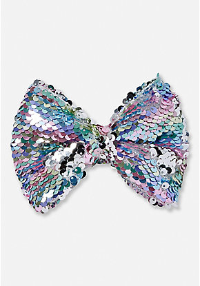 Pastel Flip Sequin Hair Bow