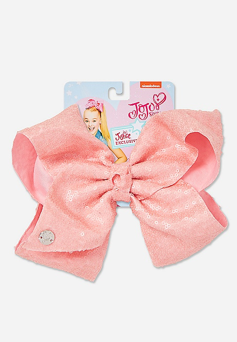 hair bows ribbon girl accessories head clip light coral
