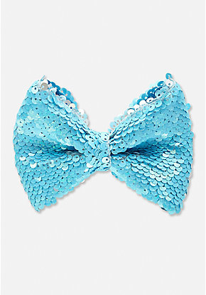 Neon Flip Sequin Hair Bow
