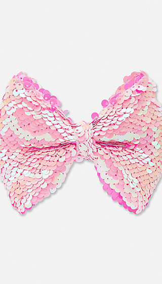 Flip Sequin Hair Bow