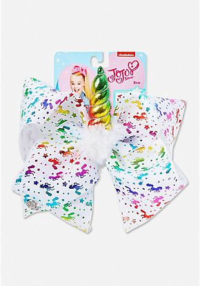 Justice Exclusive Unicorn Horn Jojo Siwa Bow