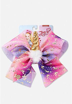 justice exclusive unicorn horn jojo siwa bow