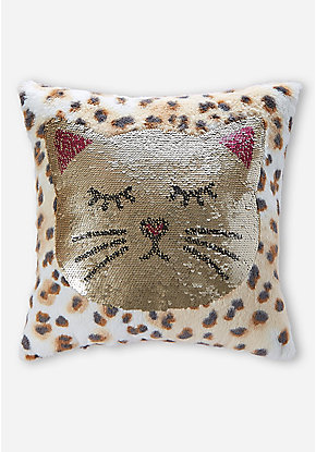 Cat Flip Sequin Pillow