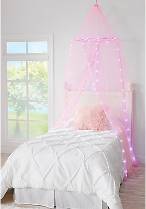 Pink light up round canopy