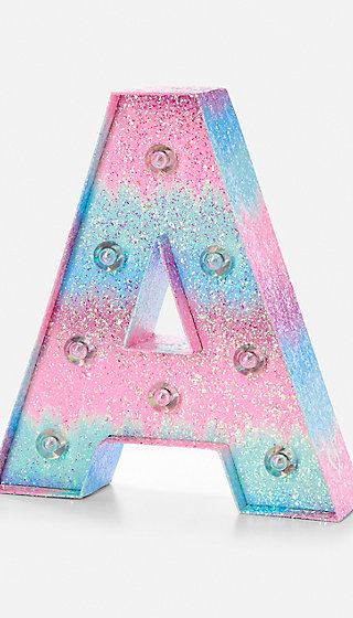 Ombre Initial Marquee Light