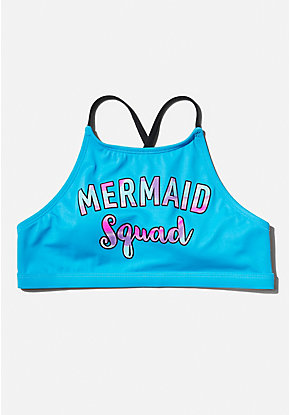 Mermaid Squad High Neck Bikini Top