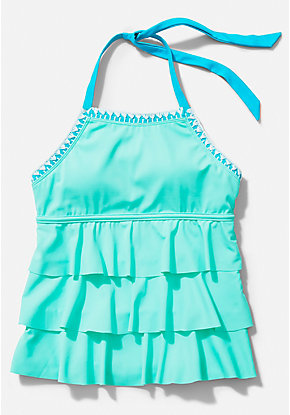 Stitched Tiered Tankini Top