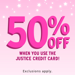50% off with card