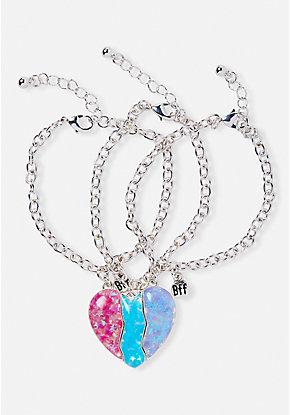 22c70960b0 BFF Heart Bracelet Trio