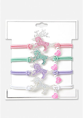 Unicorn BFF Stretch Bracelet - 4 Pack