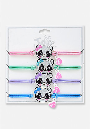 Panda BFF Stretch Bracelet - 4 Pack