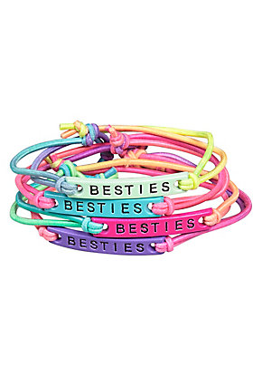 Besties Stretchy Cord Bracelet - 4 Pack