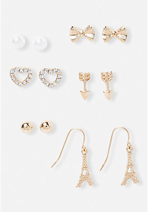 Paris-inspired earrings set