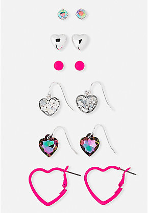 Valentines Earrings - 6 Pack