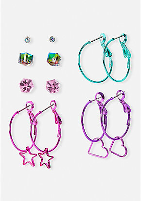 Hoops of Joy Earrings - 6 Pack