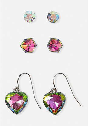 Jewels & Gems Earrings - 3 Pack