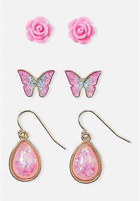 Pink & Sweet Earrings - 3 Pack