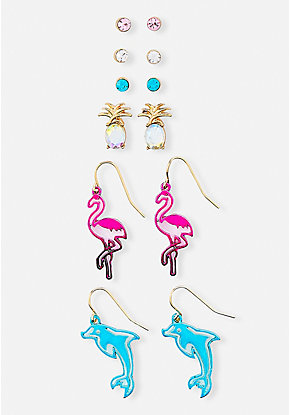 Tropical Earrings - 6 Pack