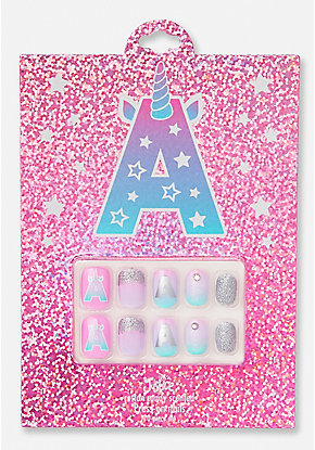 Unicorn Initial Press On Nails