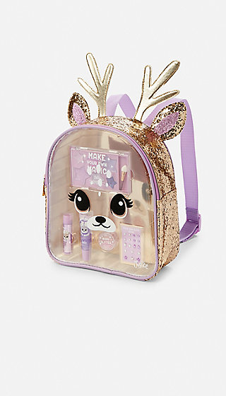 Deer Glitter Cosmetic Backpack