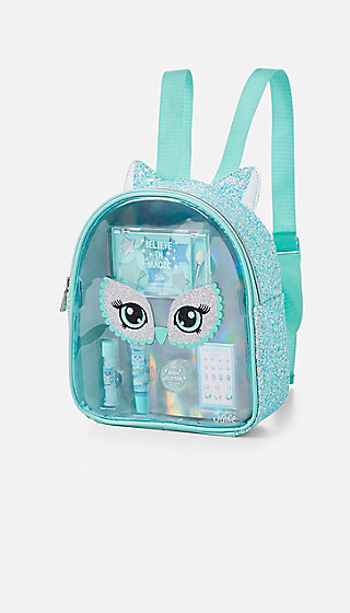 Owl Glitter Cosmetic Backpack Justice