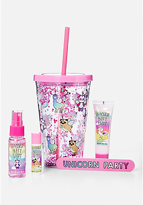 Unicorn Party Tumbler Gift Set
