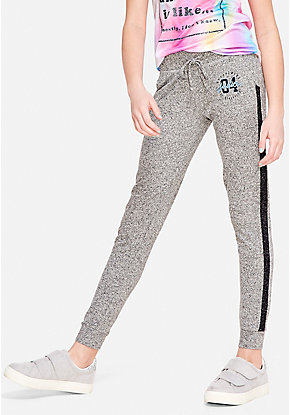 Snuggly Soft Side Stripe Joggers