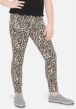 Cheetah Pull On Jeggings