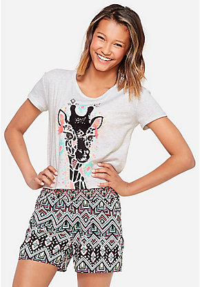Jungle Fun Embellished Boxy Tee