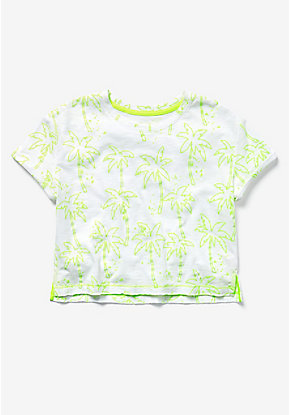 Glow in the Dark Palm Tree Boxy Tee