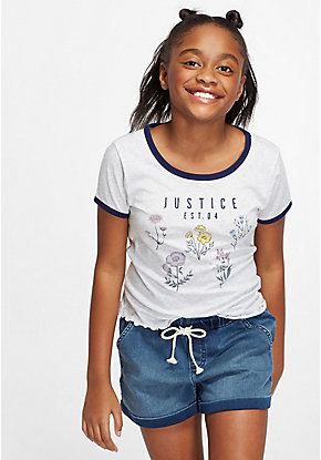 NWT Justice Girls Outfit Club Justice Tank Top//Shorts Size 6 7 8 10 12 14 16