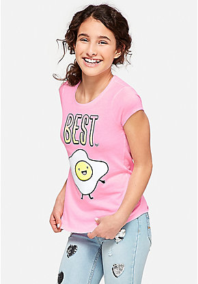 96fce1cc68cc67 Girls  Graphic Tee Shirts - Trendy