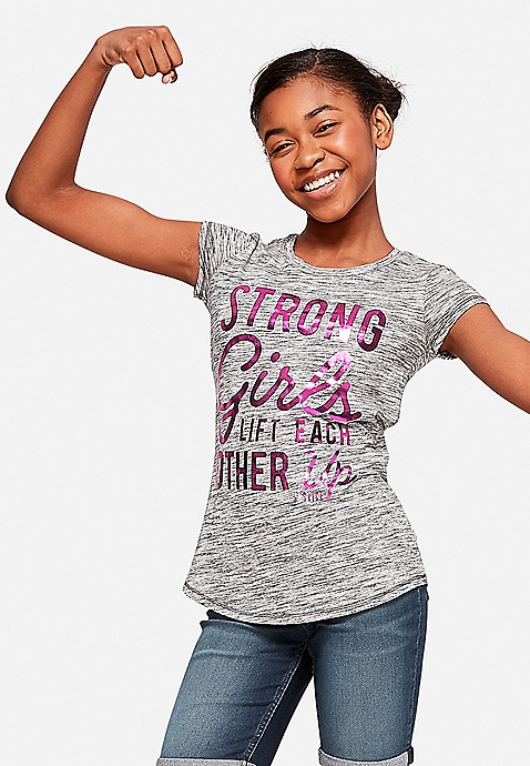 67e83aca3 Strong Girls Graphic Tee | Justice