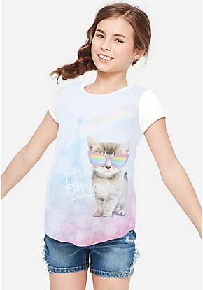 b2b5fc6d7 Girls' Graphic Tee Shirts - Trendy, Funny & Cute Styles | Justice