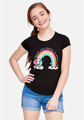 02fea580ee5c Girls' Graphic Tee Shirts - Trendy, Funny & Cute Styles | Justice