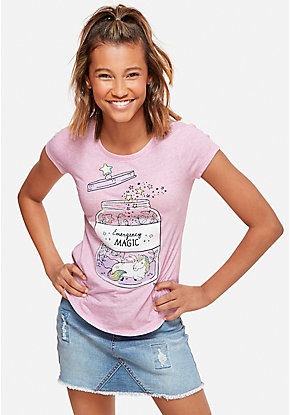 c5ca7d51 Girls' Graphic Tee Shirts - Trendy, Funny & Cute Styles | Justice