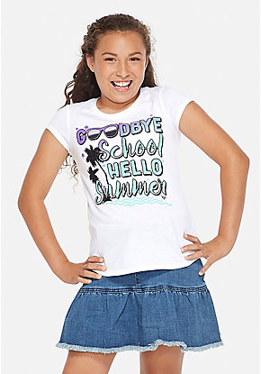 e9d914df8d52d4 Girls' Graphic Tee Shirts - Trendy, Funny & Cute Styles | Justice