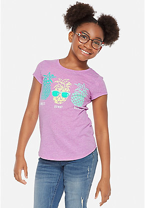 9547ac9e8 Girls' Graphic Tee Shirts - Trendy, Funny & Cute Styles | Justice