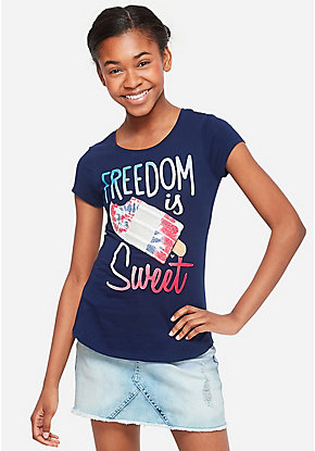 33b6eaee Girls' Graphic Tee Shirts - Trendy, Funny & Cute Styles | Justice