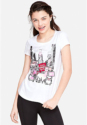 9e0f1228e95 Girls  Graphic Tee Shirts - Trendy