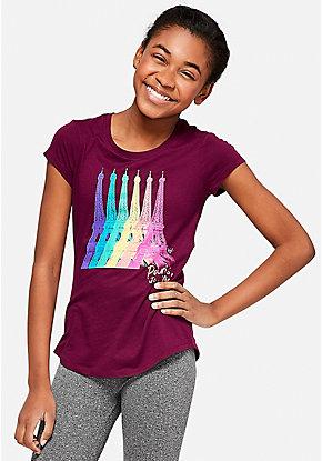 Rainbow Eiffel Tower Graphic Tee