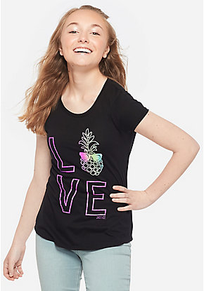 b0c202f2 Girls' Graphic Tee Shirts - Trendy, Funny & Cute Styles | Justice