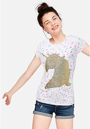 8388727de01 Girls' Graphic Tee Shirts - Trendy, Funny & Cute Styles | Justice