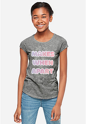 Nothing Makes Sense Glitter Graphic Tee