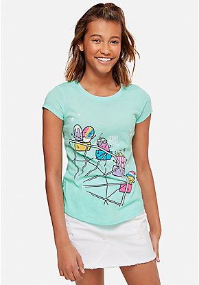 70a7d1e52 Girls' Graphic Tee Shirts - Trendy, Funny & Cute Styles | Justice