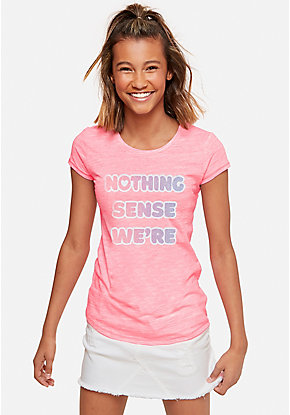 Glitter Nothing Makes Sense Graphic Tee
