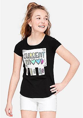 a09c7f84b9d Girls  Graphic Tee Shirts - Trendy